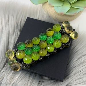 Joan Rivers Stretchy Faceted Beaded Green Bracelet